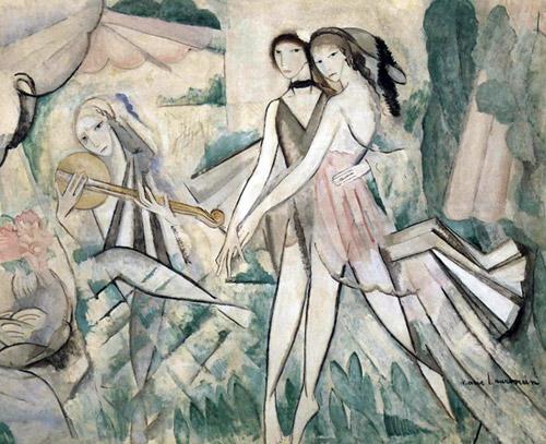 Marie Laurencin - Le Bal élégant, La Danse à la campagne (1913)