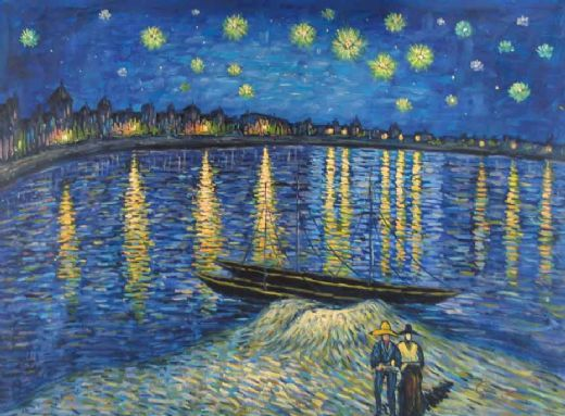 Vincent van Gogh - Starry Night Over The Rhon